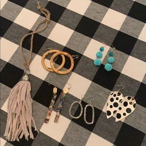 Five pair of earrings! Perfect for any outfit.